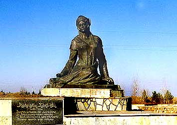 The monument for M.Ganjavi